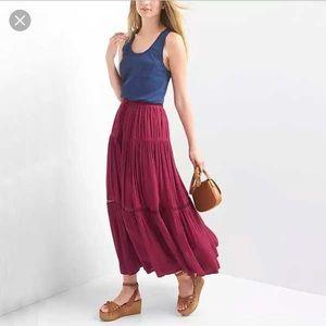 GAP Tiered Maxi Skirt